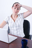 Tired business woman Stock Photography