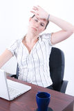 Tired business woman Stock Photos