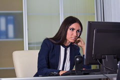 Tired business woman Royalty Free Stock Photography