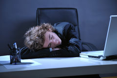 Tired businessman Royalty Free Stock Photography