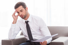Tired businessman. Stock Photography