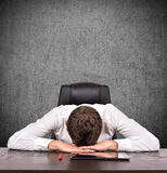 Tired businessman Stock Photography