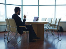 Tired businessman Royalty Free Stock Photo