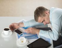 Tired businessman Royalty Free Stock Images