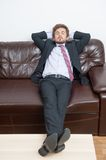 Tired businessman Royalty Free Stock Photos