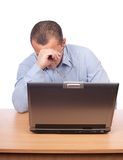 Tired businessman at work Royalty Free Stock Photography