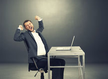 Tired businessman yawning Royalty Free Stock Photography