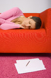 Tired businesswoman Royalty Free Stock Image