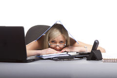 Tired businesswoman Stock Photography