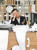 Tired Businesswoman Stock Image
