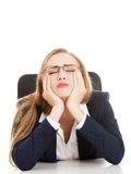 Tired businesswoman Stock Photos