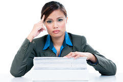 Tired Businesswoman Stock Images