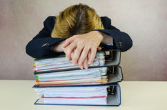 Tired businesswoman Royalty Free Stock Photos