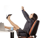 Tired businesswoman Royalty Free Stock Photography