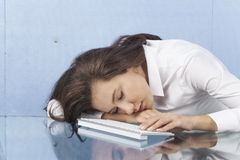 Tired Busineswoman Royalty Free Stock Image