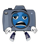Tired Camera cartoon Stock Photo