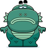 Tired Cartoon Creature. A cartoon illustration of a fish creature looking tired Stock Image