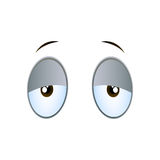 Tired Cartoon Eyes. Illustration of Tired Cartoon Eyes on a White Background Royalty Free Stock Photography