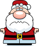 Tired Cartoon Santa Claus Stock Image