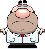 Tired Cartoon Scientist Stock Images