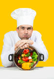 Tired chef Stock Photos