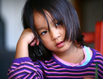 Tired child royalty free stock images