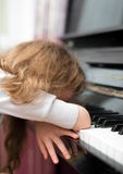 Tired child. Royalty Free Stock Photo