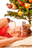 Tired after christmas Stock Photo