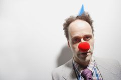 Tired Clown Stock Photo