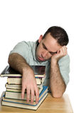 Tired College Student Stock Photo