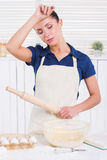 Tired of cooking. Stock Photography