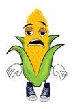 Tired Corn cartoon Royalty Free Stock Photo