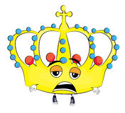Tired crown cartoon. Vector illustration of tired crown cartoon Royalty Free Stock Image
