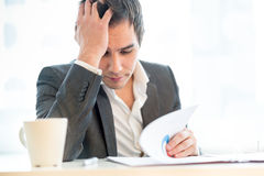 Tired diligent hardworking businessman Royalty Free Stock Photography