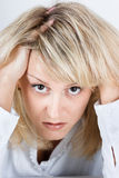Tired disheveled distraught girl Stock Image