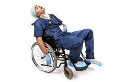 Tired doctor Royalty Free Stock Images