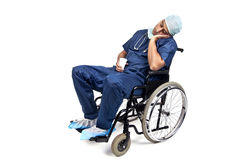 Tired doctor Stock Photos