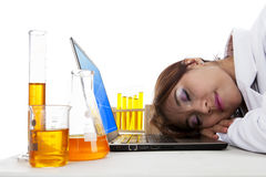 Tired Doctor Stock Photo