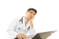 Tired doctor Royalty Free Stock Photography