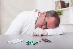 Tired Doctor Stock Image