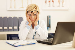 Tired doctor Stock Photography