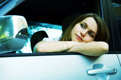 Tired driver. Royalty Free Stock Image