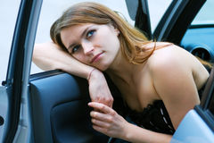 Tired driver. Royalty Free Stock Images