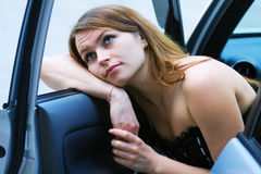 Tired driver. Royalty Free Stock Photography