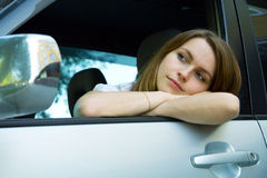 Tired driver. Stock Photo