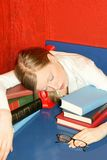 Tired education Stock Photo
