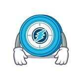 Tired Electroneum coin mascot cartoon. Vector illustration Stock Images