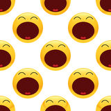 Tired emoticon pattern Royalty Free Stock Photography