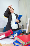 Tired the employee of office Royalty Free Stock Photos