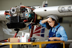 Tired engineer Stock Photos
